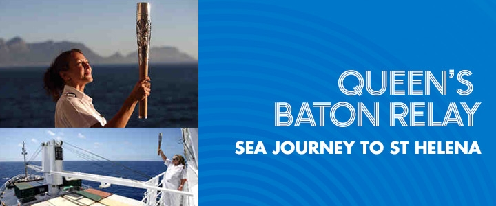 Queen's Baton Relay - Sea journey to St Helena