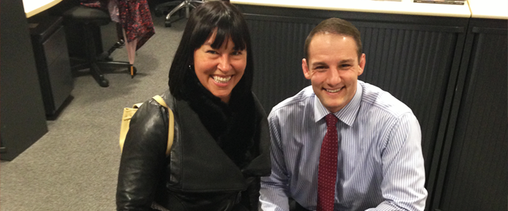 Chantal Petitclerc and David Grevemberg