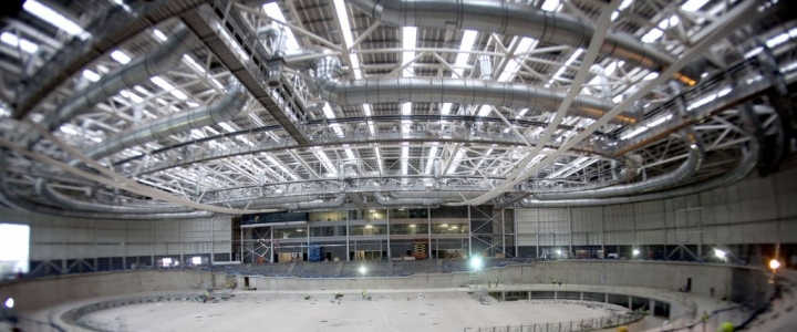 Indoor stadium under construction