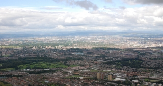 Cathkin Braes Country Park aerial view