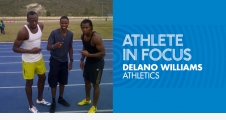 athlete in focus