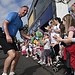 A member of the Glasgow 2014 Queen's Baton rela...
