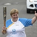 Batonbearer 005 Jean Duncan carries the Glasgow...