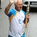 Batonbearer 021 Raymond Young carries the Glasg...