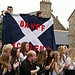 Pupils from Banff Academy cheer as the Glasgow ...