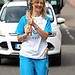 Batonbearer 007 Rhona O'Neill carries the Glasg...