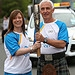 Batonbearer 009 Angela Shearer hands the Glasgo...