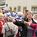 Supporters wave flags as the Glasgow 2014 Queen...