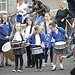 Schoolchildren play the drums as the Glasgow 20...