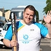 Batonbearer 001 Dean Reilly carries the Glasgow...