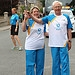 Batonbearer 007 Lynne Cruickshank hands the Gla...