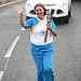Batonbearer 007 Mary Jane Rodger carries the Gl...