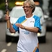 Batonbearer 008 Barbara Bell carries the Glasgo...