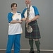 Batonbearer 002 Tanya Chapman hands the Glasgow...