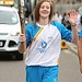 Batonbearer 013 Kirstie Gordon carries the Glas...