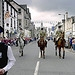 Riders from the Langholm Cornet relay the Queen...