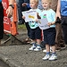 Children hold banners of support for the Glasgo...