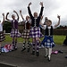 Scottish country dancers welcome the Glasgow 20...