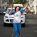 Batonbearer 007 Katherine Clark carries the Gla...